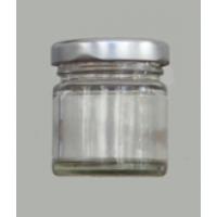 Γυάλινο βάζο με ασημί καπάκι